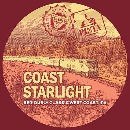 Etykieta - Coast Starlight