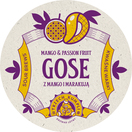Etykieta - Gose with mango and passion fruit