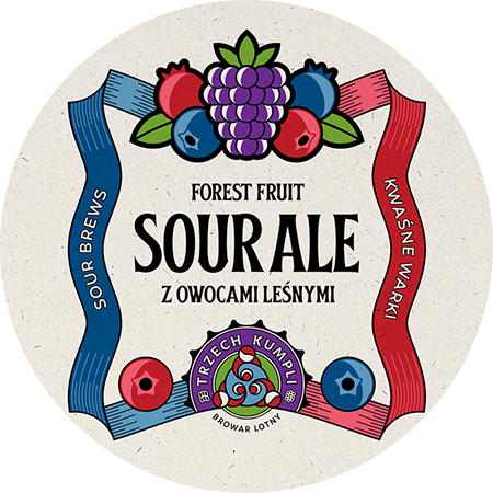 Etykieta - Sour Ale with forest fruit